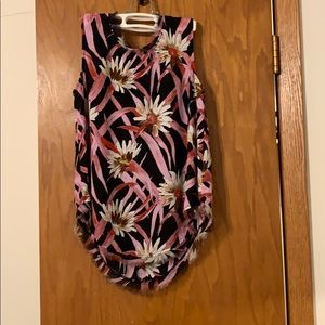 Who What Wear floral blouse